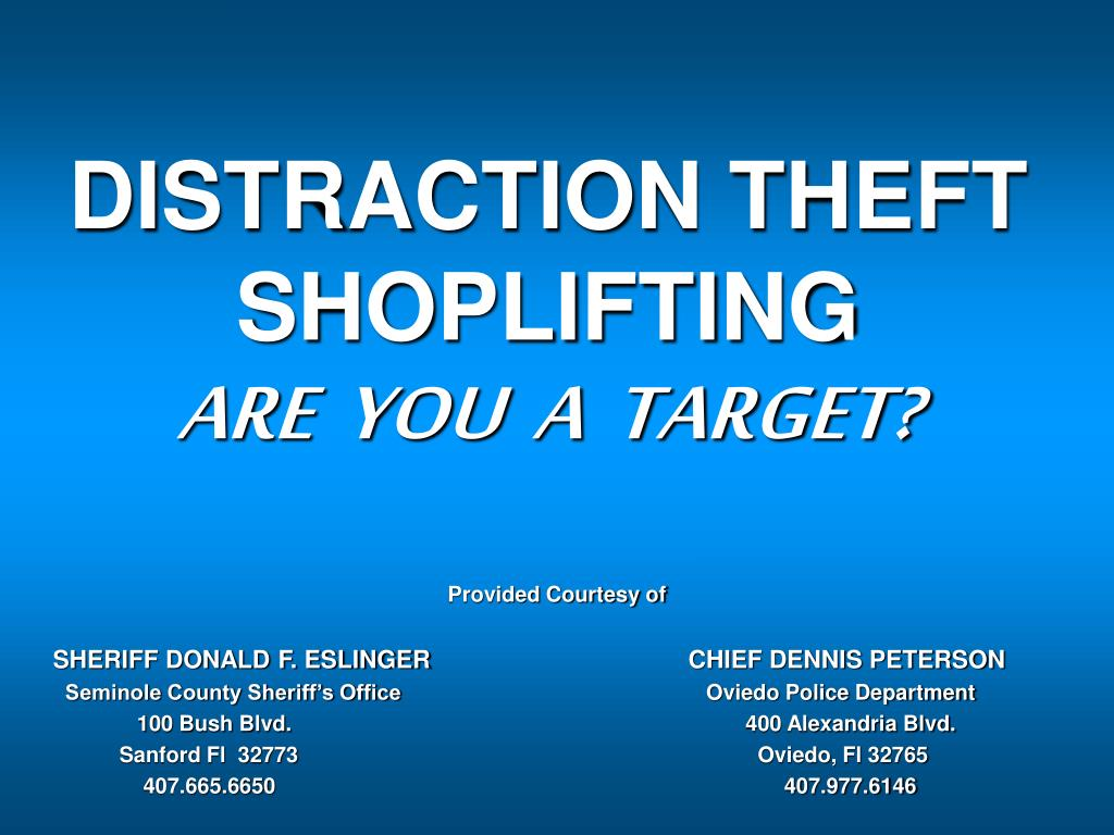 distraction theft shoplifting are you a target l.