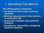 1 spreading free markets