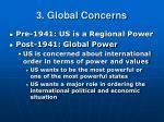 3 global concerns
