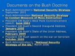 documents on the bush doctrine