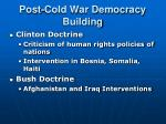 post cold war democracy building