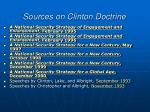 sources on clinton doctrine