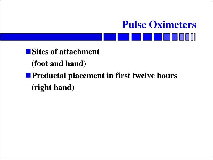 Pulse Oximeters Sites Of Attachment