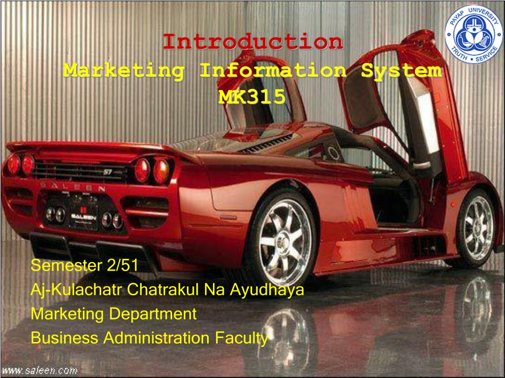 introduction marketing information system mk315 l.