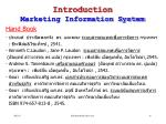 introduction marketing information system16