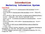 introduction marketing information system17