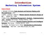 introduction marketing information system18