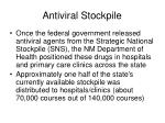 antiviral stockpile