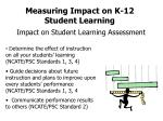 measuring impact on k 12 student learning