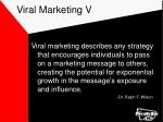 viral marketing v