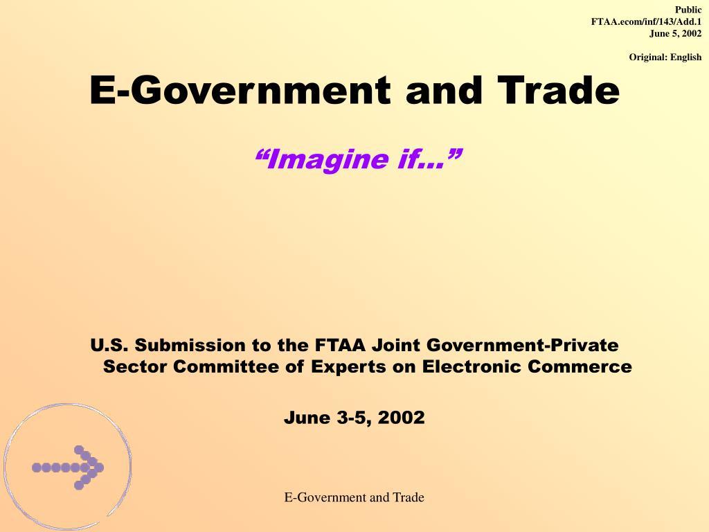 e government and trade imagine if l.