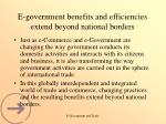 e government benefits and efficiencies extend beyond national borders