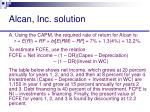 alcan inc solution