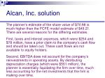 alcan inc solution62