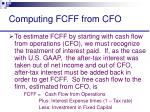 computing fcff from cfo