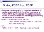 finding fcfe from fcff