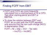 finding fcff from ebit