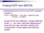 finding fcff from ebitda27