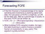 forecasting fcfe