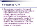forecasting fcff
