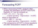 forecasting fcff31