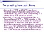 forecasting free cash flows