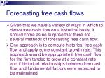 forecasting free cash flows29