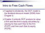 intro to free cash flows