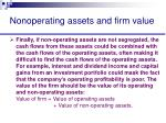 nonoperating assets and firm value43