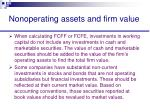 nonoperating assets and firm value44