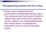 nonoperating assets and firm value45
