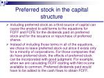 preferred stock in the capital structure