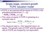 single stage constant growth fcfe valuation model