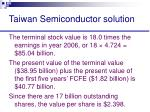 taiwan semiconductor solution54