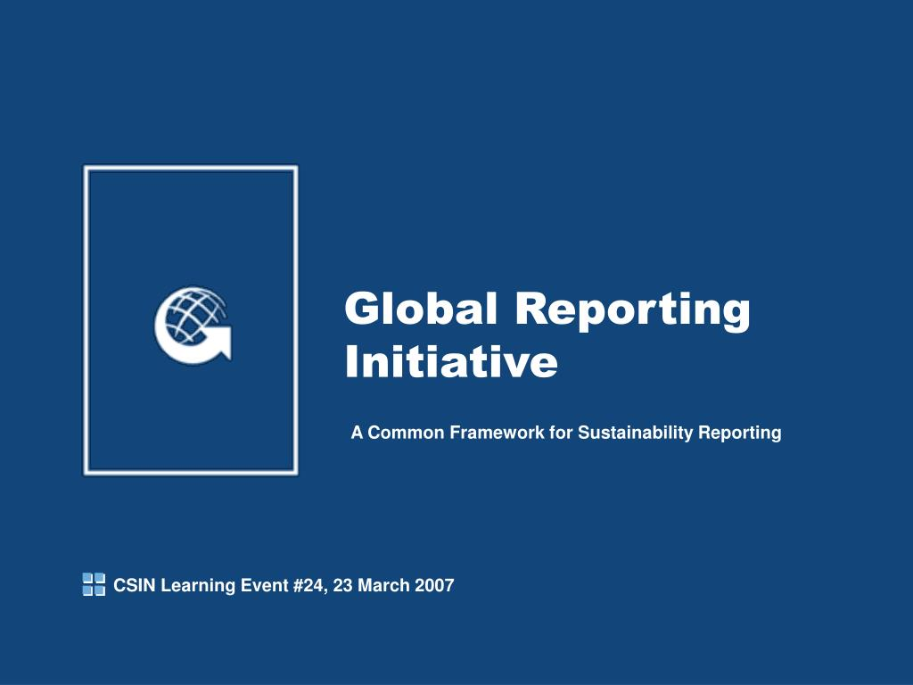 global reporting initiative l.