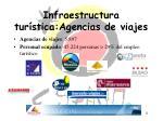 infraestructura tur stica agencias de viajes