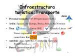 infraestructura tur stica transporte