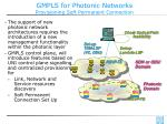 gmpls for photonic networks provisioning soft permanent connection