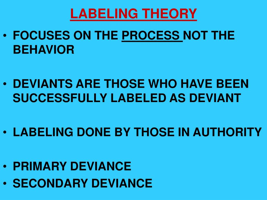 It is an image of Stupendous Labeling Theory Focuses on