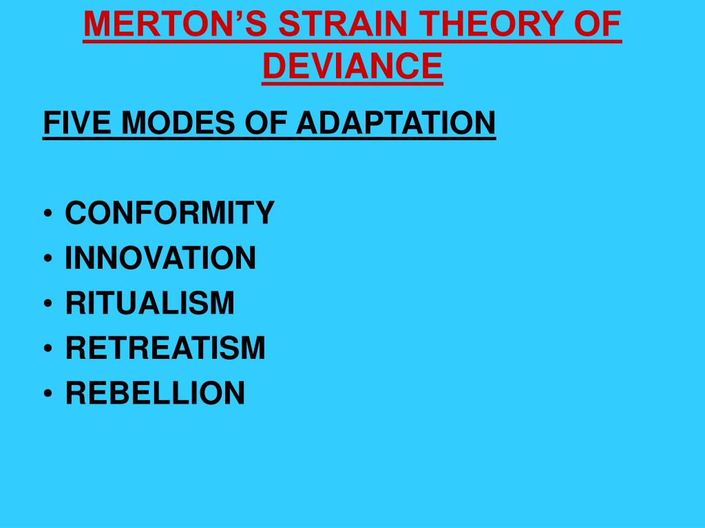 merton s five modes adaptation