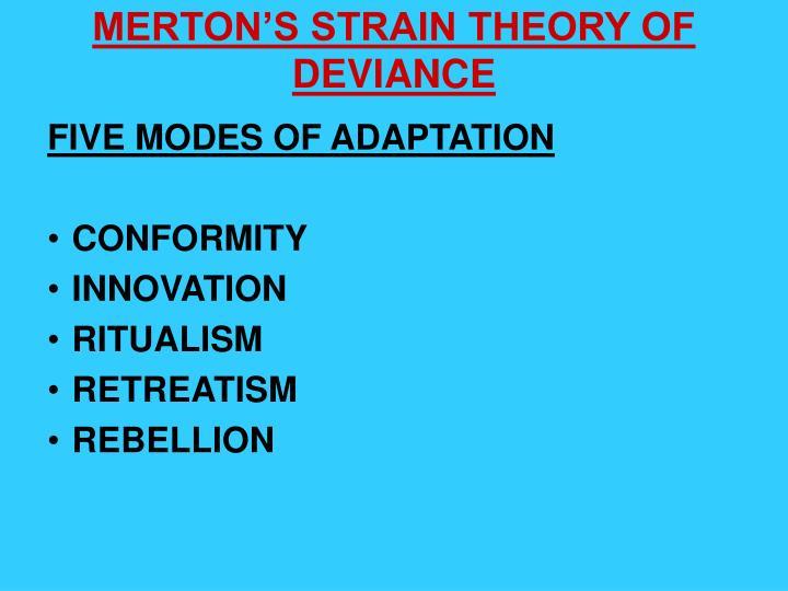 mertons modes of adaptation