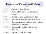 summary of contact and policies5