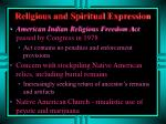 religious and spiritual expression