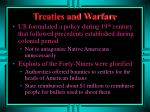 treaties and warfare