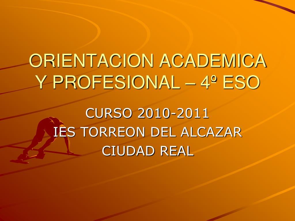 orientacion academica y profesional 4 eso l.
