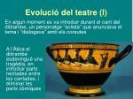 evoluci del teatre i