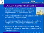 a alca e a ind stria brasileira