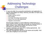 addressing technology challenges