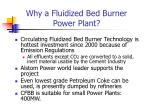why a fluidized bed burner power plant