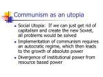 communism as an utopia